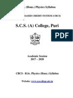 Physics Honor's Syllabus