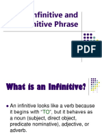 Infinitives and Infinitive Phrases