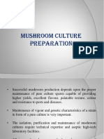 Mushroom Culture Preparation and Spawn Production