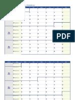 2019 Weekly Calendar