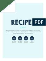 Bonus Recipes
