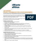 ecowaste coalition field project coordinator