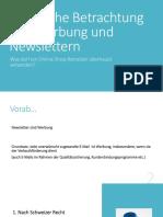 Praesentation Werbung Und Newsletter
