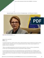 'Aproximação Com Os EUA é Fundamental', Diz Tereza Cristina - 05-09-2019 - UOL Economia