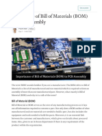 Importance of Bill of Materials (BOM) in PCB Assembly