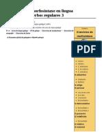 Exercicios de Morfosintaxe en Lingua Galega Verbo Verbos Regulares 3