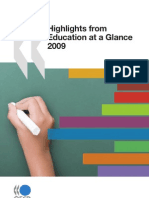 Highlights of OECD Education at Glance 2009