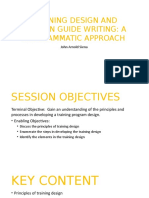 Training Design and SG Writing _For Participants - Copy.pptx