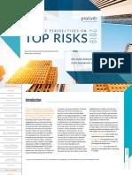 Nc State Protiviti Survey Top Risks 2019
