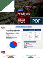 Relevamiento de Precios CESyAC AGOSTO 2019 · Rosario