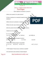 Class 10 Trend Setter Test Paper Chap- Electricity - 02
