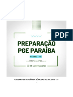 Caderno de Revisão de Súmulas Importantes - Pge Pb - Semana 01