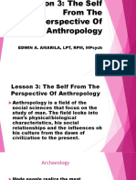 Lesson 3 the Self From the Perspective of Anthropology