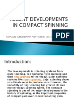 RECENT DEVELOPMENTS IN COMPACT SPINNING(1)