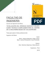 TRATAMIENTO PASIVO DE AGUAS ÁCIDAS