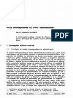 Visão Contemporânea Da Teoria Administrativa
