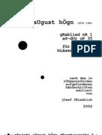 August Högn - Edition; Grablied_Nr._1_Es-Dur_op
