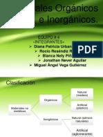 Expo Materiales Orgánicos e Inorgánicos