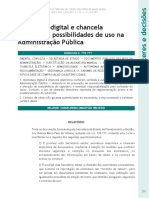 Assinatura Digital e Chancela eletronica