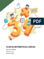 Club de Matemáticas Lúdicas