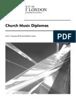 Church Music Diplomas Syllabus