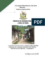 CONSTRUCCION DE PISTAS Y VEREDAS