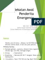 Pendekatan Awal Penderita Emergency