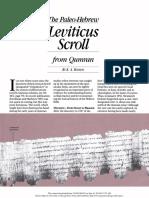 Artigo sobre livro do levítico