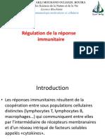 Cours 9 Régulation de La Réponse Immunitaire