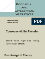 Goodwill and Categorical Imperatives