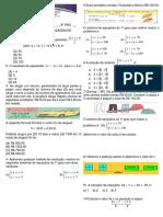 Avaliação 8 Ano Equaç e Sistema
