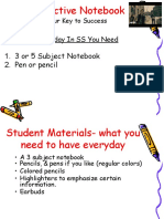 interactive student evidence notebook student sci