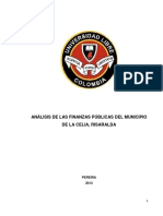 Análisis de Las Finanzas Públicas Del Municipio de La Celia, Risaralda