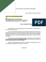 Carta de PU a La UCV