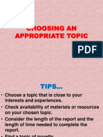 3-Choosing an Appropriate Topic