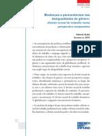 HIRATA, helena  Mudanças e permanências nas desigualdades de gênero.