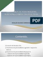 Trastornos de Personalidad, Agresión y Conductas Delictivas.