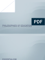 Some Philosophies of Education