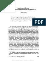 6. PERSONA Y GÉNESIS UNA TEORÍA DE LA IDENTIDAD PERSONAL, PETER SCHULZ.pdf