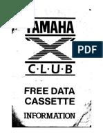 X-Club Free Data Cassette INFORMATION