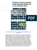 El Arte Del Domino Teoria y Practica With CD Audio Spanish Edition by Jose Luis Gonzalez Sanz - 5 Star Review