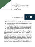La Bibliografia en La Investigacion Literaria
