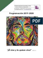 Programación Secretariado de Pastoral Juvenil 19-20
