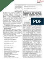 Decreto Supremo Que Prorroga El Estado de Emergencia Por Pel Decreto Supremo n 153 2019 Pcm 1804994 2