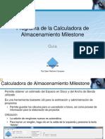 Guía Calculadora Almacenam Milestone 30120520