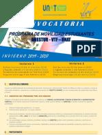 Convocatoria Movilidad Estudiantes Invierno 2019
