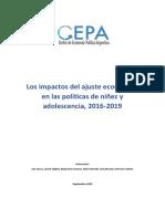 2019.09.04 Transformaciones en Las Políticas de Niñes y Adolescencia Análisis Económico Del Periodo 2016 2019 CEPA
