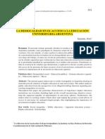 La Desigualdad en El Acceso a La Educación Universitaria en Argentina