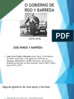 Segundo Gobierno de Jose Pardo y Barreda