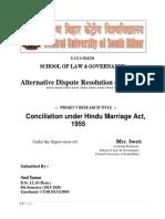 Conciliation under Hindu Marriage Act, 1955